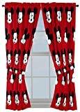 Jay Franco Disney Mickey Mouse Cute Faces 63' inch Drapes 4 Piece Set - Beautiful Room Décor & Easy Set up - Window Curtains Include 2 Panels & 2 Tiebacks (Official Disney Product)