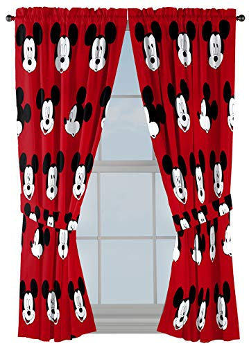 Jay Franco Disney Mickey Mouse Cute Faces 63 inch Drapes 4 Piece Set - Beautiful Room D