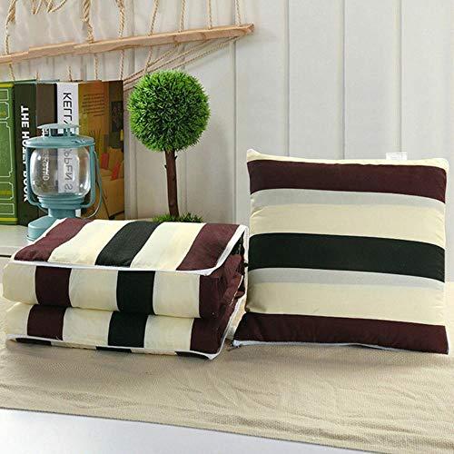 THWYJ Heiße Nickerchen Kissen Stuhl Matte 2 In 1 Kissen Sofa Kissen Quilt Office Faltbar, Muster 4