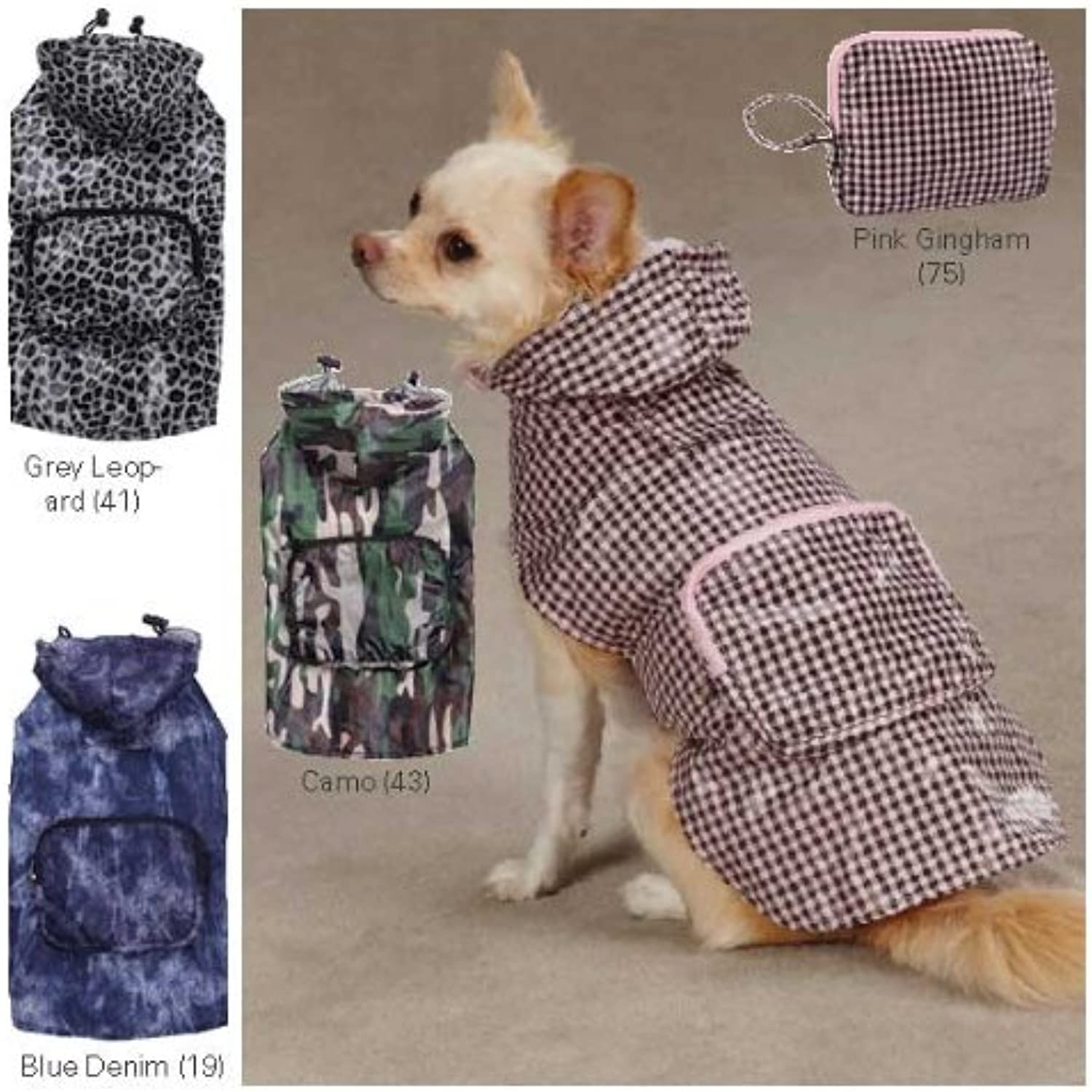 Casual Canine ZM020 16 75 Rainy Day Jacket for Dogs, Medium, Pink Gingham