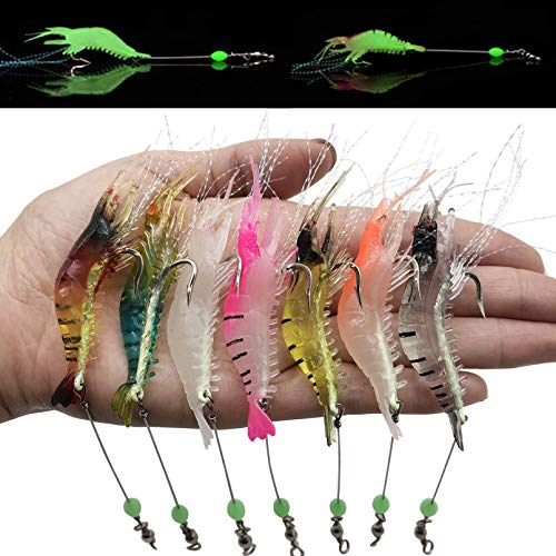 Multiple Simulated Fishing Soft Bait Swimbaits Slow Sinking Swimming Lures Freshwater and Saltwater,Stable and Tempting