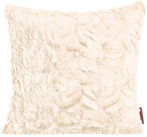 Magma Kissen Fluffy Plüsch Felloptik Kuschelkissen ca. 45x45cm (beige)