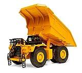 Top Race Modelli modellati di qualità Veicoli giocattolo per costruzioni in metallo pesante, scala 1: 40, autocarro con cassone ribaltabile, TR-212D