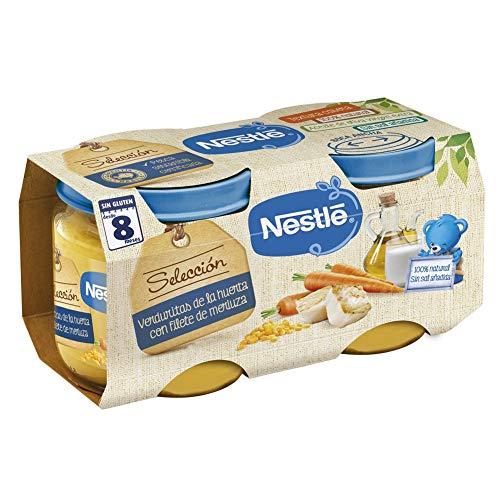 Nestlé Selección Tarrito de puré de verduras y carne, variedad Verduritas de...