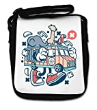 Cartoon Styled Traveling Circus Truck Small Shoulder Bag