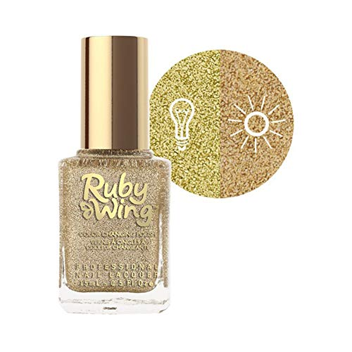Ruby Wing Uv Color Changing Nail Polish Spring Garden Collection Sunflower