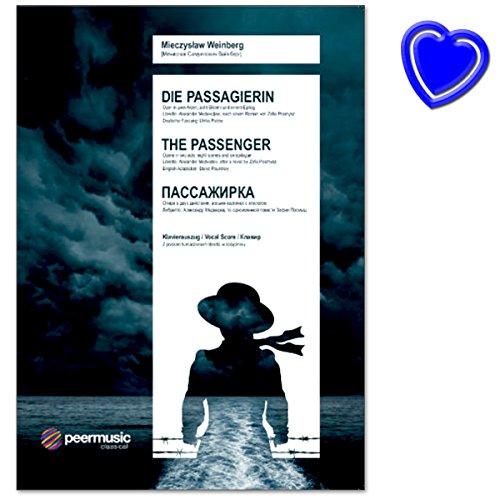 Die Passagierin op. 97 (1968) - Oper in zwei Akten von Mieczysław Weinberg - Klavierauszug - Libretto: A. Medwedew, nach der gleichnamigen Novelle von Zofia Posmysz - Notenbuch mit Notenklammer