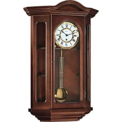 Hermle Osterley Mechanical Regulator Wall Clock - Walnut - Westminster Chime