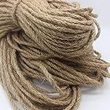 A-Lkatsthy キャットタワー麻ロープ 6mm麻ロープ 100M 麻ロープ 麻紐 麻縄手すり 猫 ハンモック 階段 ジュートロープ ネコ 爪とぎ 爪を磨き おもちゃ 猫の木ロープ 猫アパートロープ 手作り DIY (直径6mm)天然麻を採用します