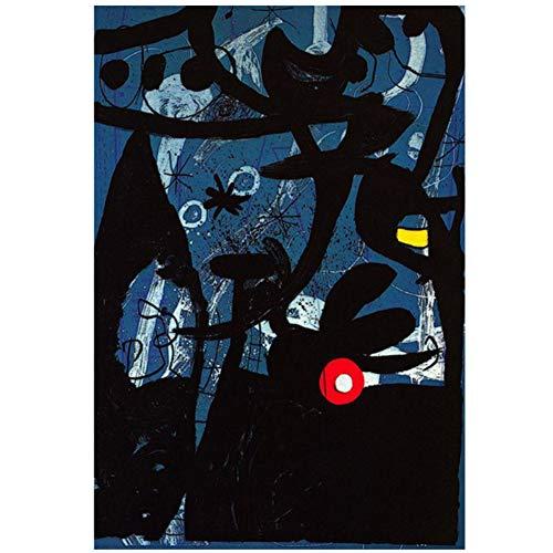 Joan Miro Acuarela abstracta Arte de la pared Carteles e