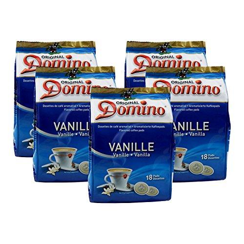 5 x DOMINO Kaffeepads Vanille 18 Pads