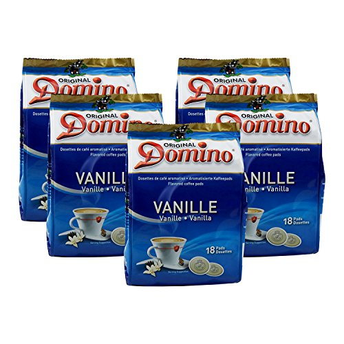 5x DOMINO Kaffeepads Vanille (á 18 Pads)