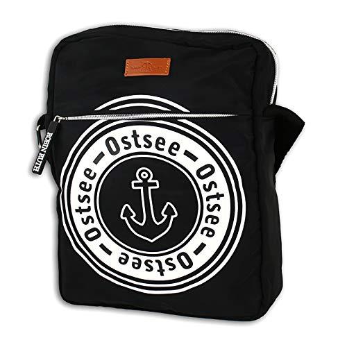 Robin Ruth Schwarze Ostsee Tasche Crossbody Schiffsanker Umhängetasche D3OTG2104S Polyester Tasche für die Frau, für den Mann, für Jugendliche