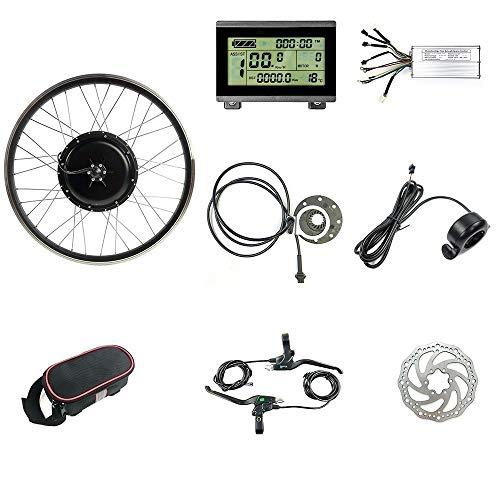 """Schuck 48V 1000W Kit de Bicicleta eléctrica 20""""/ 24"""" / 26""""/27.5"""" / 28""""/ 700C Rueda Delantera Kit de conversión de Bicicleta eléctrica, con KT-LCD3 (48V 26 Inch)"""