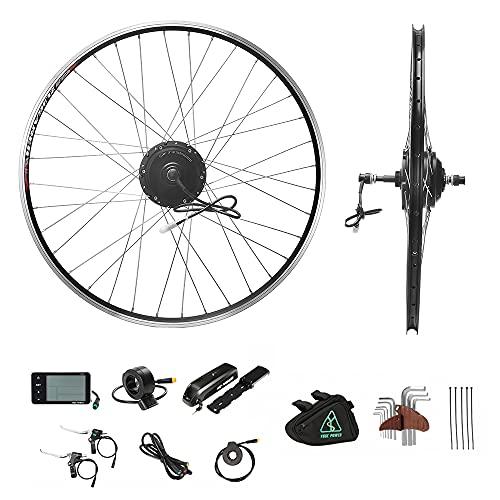 """Kit de conversión para bicicleta eléctrica de 26"""", motor trasero de 26 pulgadas, E-Bike juego completo de 36 V 350 W solo para corona de rosca, sin corona de rosca con batería Hailong de 36 V 12,5 Ah"""
