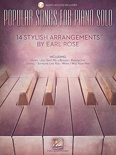 Popular Songs Piano Solo - 14 Stylish Arrangements by Earl Rose: Noten, Sammelband für Klavier