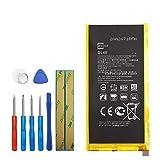 Upplus Batería de repuesto GL40 compatible con Motorola Moto Z Play Droid XT1635 SNN5974A 3300 mAh 3,8 V con kit de herramientas