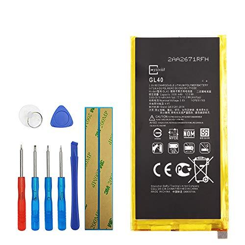 Upplus GL40 - Batteria di ricambio compatibile per Motorola Moto Z Play Droid XT1635 SNN5974A 3300mAh 3,8V con kit di attrezzi