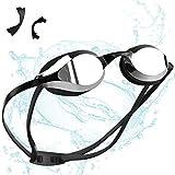 ZetHot Gafas de natación, sin Fugas, Anti-Niebla, Protección UV, para Adultos, Hombres Mujeres Jóvenes Niños Niñas. (Negro)