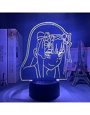Anime Zero Two lampka nocna 3D dla dzieci, dziewczynek, do sypialni, dekoracja, prezent, manga, prezent, lampka nocna, ulubiona w The Franxx-DJ-QDS 390_16 kolorów z pilotem zdalnego sterowania