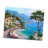 Gen'rico Kit de Pintura Cuadro Paisaje Atractivo Hermoso Decoración Baño Comedor Dormitorio Cocina Estudio - 2# 25x33cm