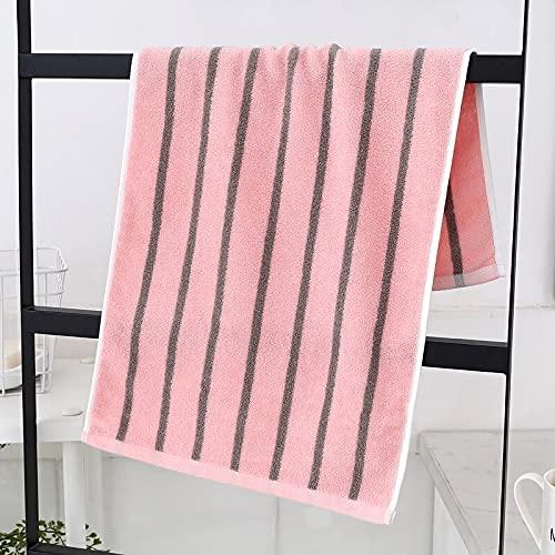 Toallas de baño de algodón absorbentes de Secado rápido, Toalla de baño Deportiva para Playa, baño, Textil para el hogar, de fácil Lavado (Rosa,34x74cm)