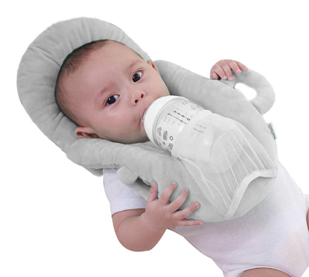 Baby Portable Detachable Feeding Pillows Self-Feeding Support Baby Cushion Pillow (Grey 2)