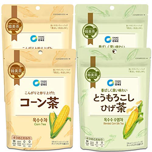 コーン茶 とうもろこしひげ茶 2種類×2個 韓国 お茶 美味しい 美容 ティーパック 水出し パック