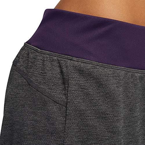 adidas Pantalones Cortos 2 en 1 para Mujer, Color Gris Oscuro y Lila, Mujer, DU3496, Gris Oscuro, Extra-Large