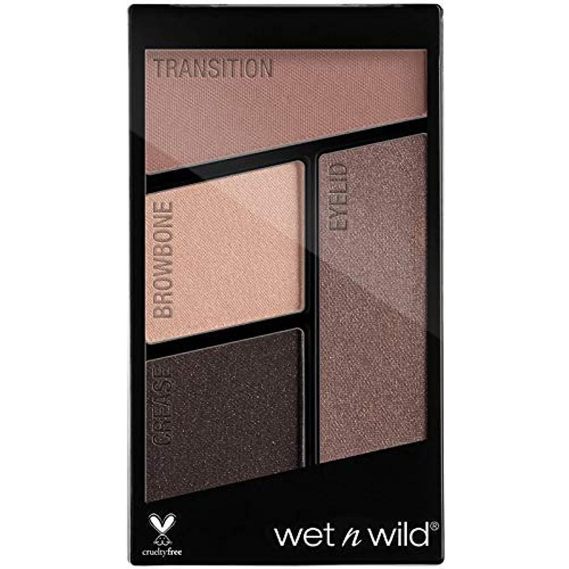 浸した権利を与える裂け目WET N WILD Color Icon Eyeshadow Quad - Silent Treatment (並行輸入品)