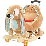 Caballito Balancin Baby Rocking Horse De Madera 2 En 1 De Doble Uso Con Ruedas...