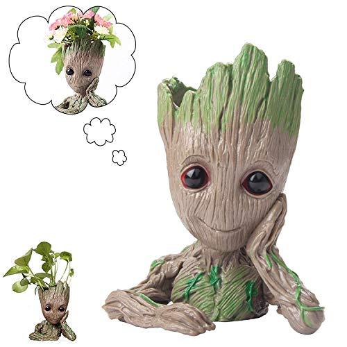 Blumentopf/ Stifthalter, Baum Mann Blumentopf, für Aquarium Deko/ Wohnkultur/ Kreativer Geschenke für Erwachseneund Kinder(14x9x8cm) (Hebe die Wange)
