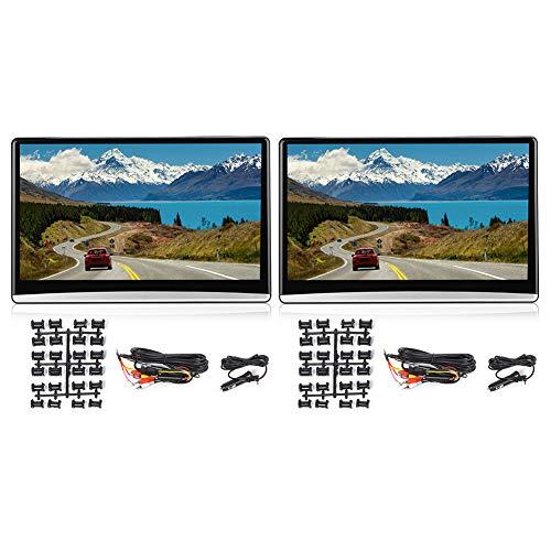 Reproductor de DVD dual de 13,3 pulgadas para coche, reposacabezas portátil, reproductores de vídeo, monitor de reposacabezas, asientos traseros, reproductor de CD para sistema de entretenimiento Andr