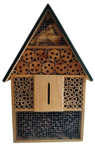 Novaliv Nisthilfe XXL I Insektenhaus Insektenhotel Garten I Bienenhotel wetterbeständig Schmetterlingshaus