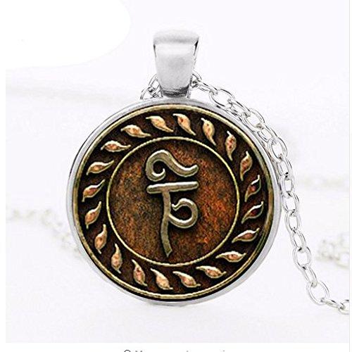 Reaper Trap Tibetan Tulpa Angel Banishing Sigil Jewelry Glass Necklace