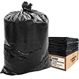 """GPED 45 Gallon Contractor Bags, Heavy Duty Black Can Liners for Kitchen Garbage Outdoor and Commercial Use, 40"""" x 48"""", 1.3 Mil, 100 Count"""