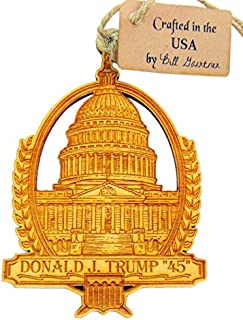 Westman Works President Donald Trump Wooden Christmas Ornament 4 inch Boxed Made in The USA