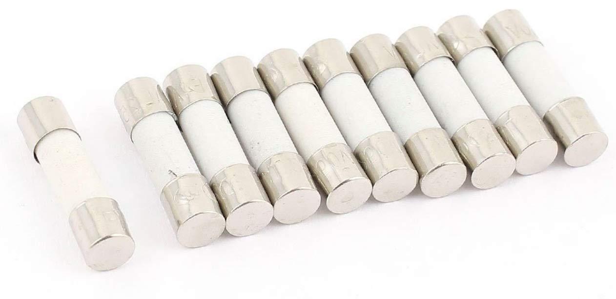 5 x 20 mm verre - 0,1 A 250 V 30 A Fusibles en c/éramique Flink 5 x 20 // 6 x 30 mm Lot de 10 fusibles en verre 0,1 A