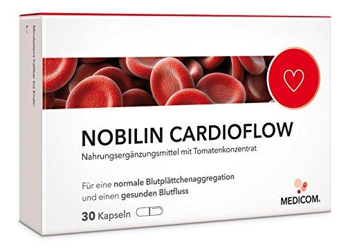 MEDICOM Nobilin Cardioflow Kapseln lycopinfreies Tomatenkonzentrat mit Vitamin B1 & Inulin,30 Stk