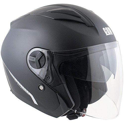 CGM, casco moto jet Daytona nero opaco, M