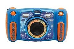 Vtech Kidizoom Duo 5.0 Appareil photo numérique pour enfants, 5 MP, écran couleur, 2 objectifs, version anglaise, bleu