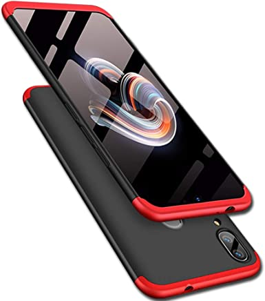 TheGiftKart Full Body 3 in 1 Slim Fit 360 Degree Protection Hard Bumper Back Case Cover for Xiaomi Redmi Note 7 / Note 7 Pro (Red Black) (Limited Period Offer)