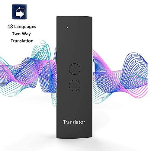 Traductor de Voz Dispositivo de traducción de idioma inteligente, traductores electrónicos de bolsillo, 41 idiomas,Puede Traducir fotos, para aprender a viajar