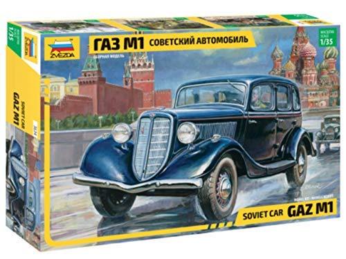 Zvezda 500783634 - 01:35 GAZ M1 Soviética Personal del Coche