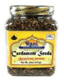 Rani Cardamom Seeds (Elachi) Indian Spice 20oz (571g) PET Jar ~ All Natural   Vegan   Gluten Free Ingredients   NON-GMO   Indian Origin