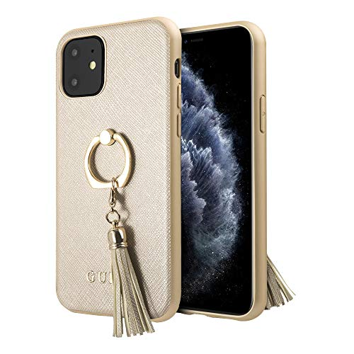 GUESS Ring Stand Funda para iPhone 11 Ring Holder Protector con Anillo