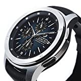 Ringke Bezel Styling for Galaxy Watch 46mm / Galaxy Gear S3 Frontier & Classic Bezel Ring Adhesive Cover Anti Scratch Stainless Steel Protection (Stainless) for Galaxy Watch Accessory GW-46-40
