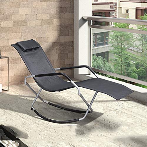CGF- Tumbonas Mecedora de jardín al Aire Libre Silla Relajante Sillón reclinable Tumbona Estructura de Hierro, Tela sintética Transpirable y cómoda, máx. Capacidad 150 Kg