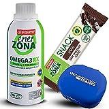Enerzona Omega 3 RX 240 cpr + 5 barritas Enerzona Snack Noir 33 g + pastillero