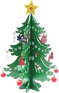 aipipl Arbre de Noël DIY Ornements Décoration de Noël 3D DIY en Bois Arbre De Noël Ornement Artisanat Enfants Faveur pour ...